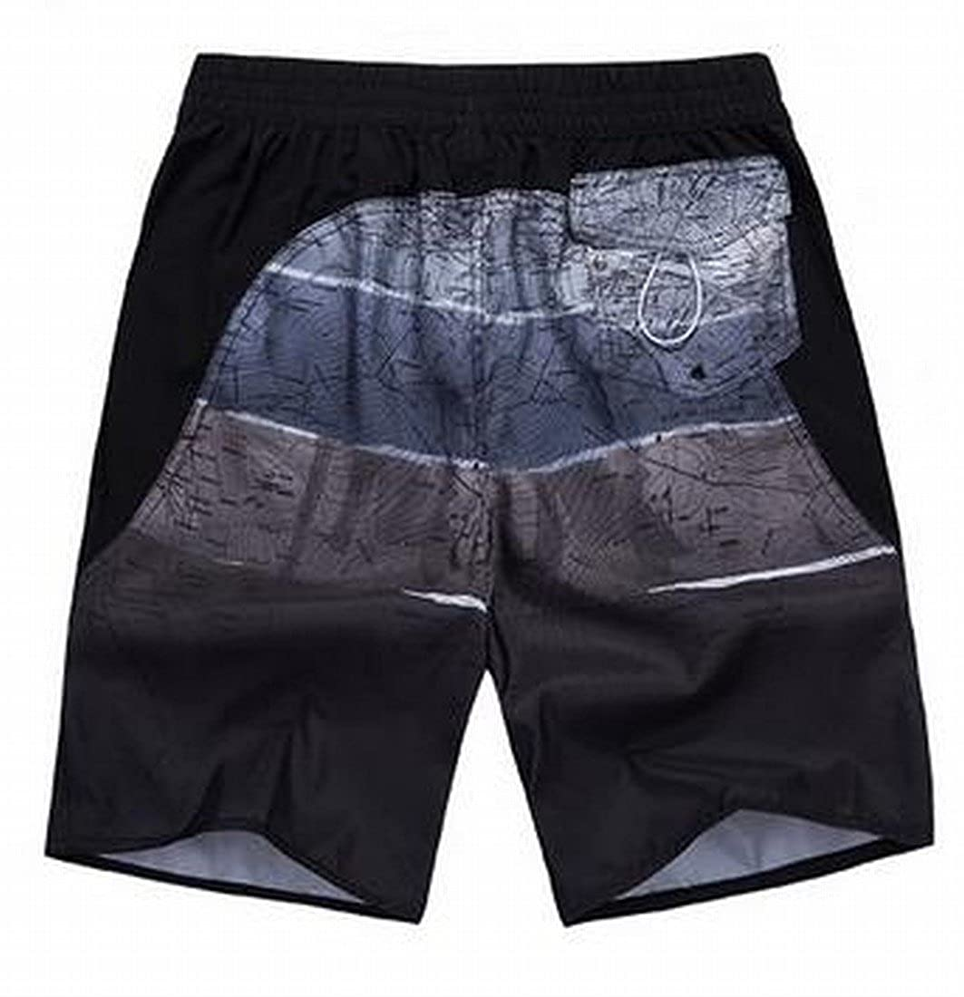 Honey GD Mens New Style Hit Color Drawstring Beachwear Short Pants