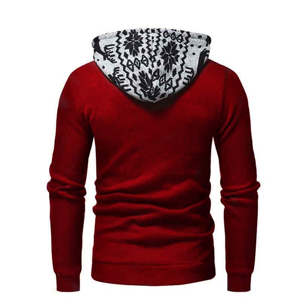 Felpa Uomo Invernale con Cappuccio Casuale Sportivo Pullover Tinta Unita Cotone Morbido Caldo Felpa Maniche Lunghe Hooded Sweatshirt Giacca Autunno Antivento Top Cappotto