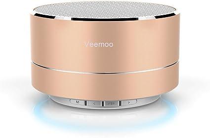 Veemoo Mini Altavoz inalámbrico Bluetooth Altavoces Soporte FM ...
