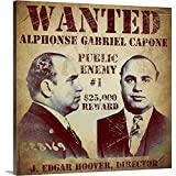 """Vintage Apple Collection Premium Thick-Wrap Canvas Wall Art Print entitled Al Capone Wanted Poster 24""""x24"""""""