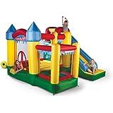Avyna Castello Gonfiabile Divertimento Palace 6 1 Grande Scivolo, Parete Arrampicata, Piscina Palline Canestro Basket (Per Bambini Fino 4)