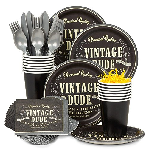 Costume Supercenter BBKIT687 Vintage Dude Birthday Party Standard Tableware Kit