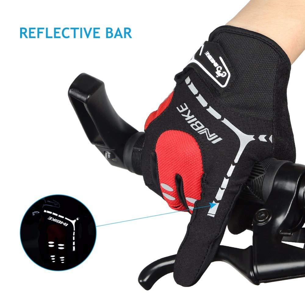 INBIKE Cycling Gloves Touch Screen Full Finger MTB Mountain Bike Gloves for Men//Women