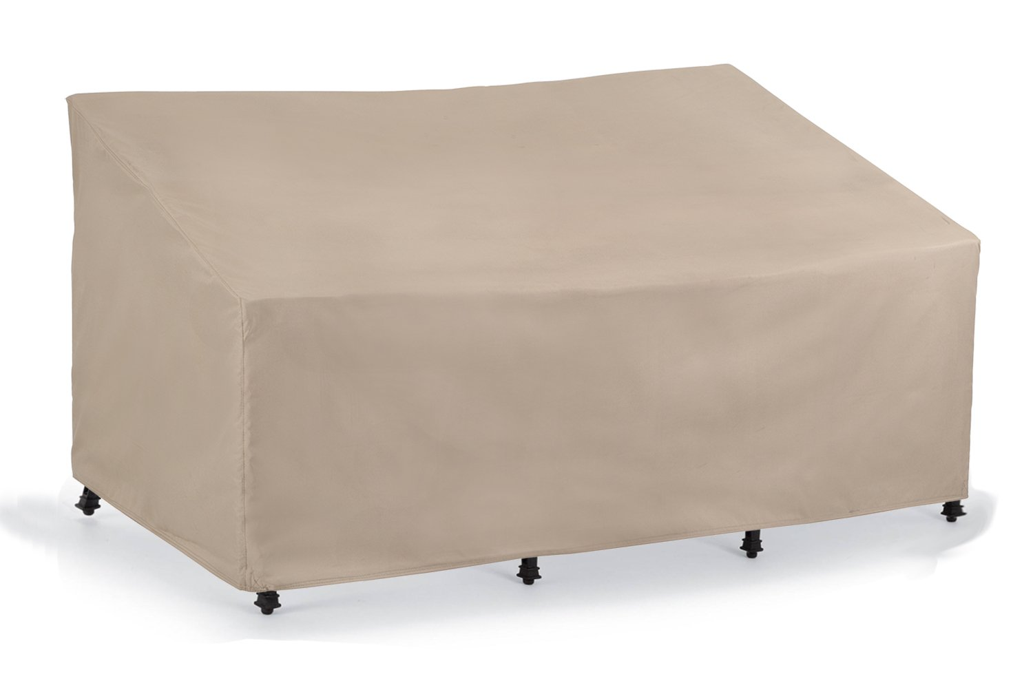 SunPatio Sofa Cover, Lightweight, Water Resistant, Eco-Friendly, Helpful Air Vent, All Weather Protection, Beige, 80'' L x 36'' W x 30'' H/20 H