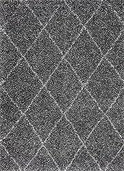 nuLOOM Cozy Soft and Plush Diamond Trellis Runner Shag Area Rug