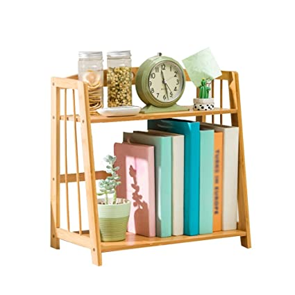 Bookshelf CHUNLAN Bamboo Desktop Chic And Beautiful Student Mini Small Office Family Storage Rack 432438cm