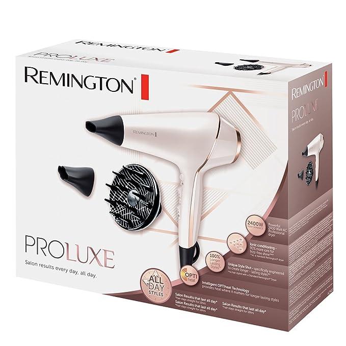 Remington AC9140 PROluxe - Secador profesional con motor AC, 2400 W, para peinados duraderos, color rosado: Amazon.es: Salud y cuidado personal