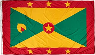 product image for Annin Flagmakers Model 193000 Grenada Flag Nylon SolarGuard NYL-Glo, 5x8 ft, 100% Made in USA to Official United Nations Design Specifications
