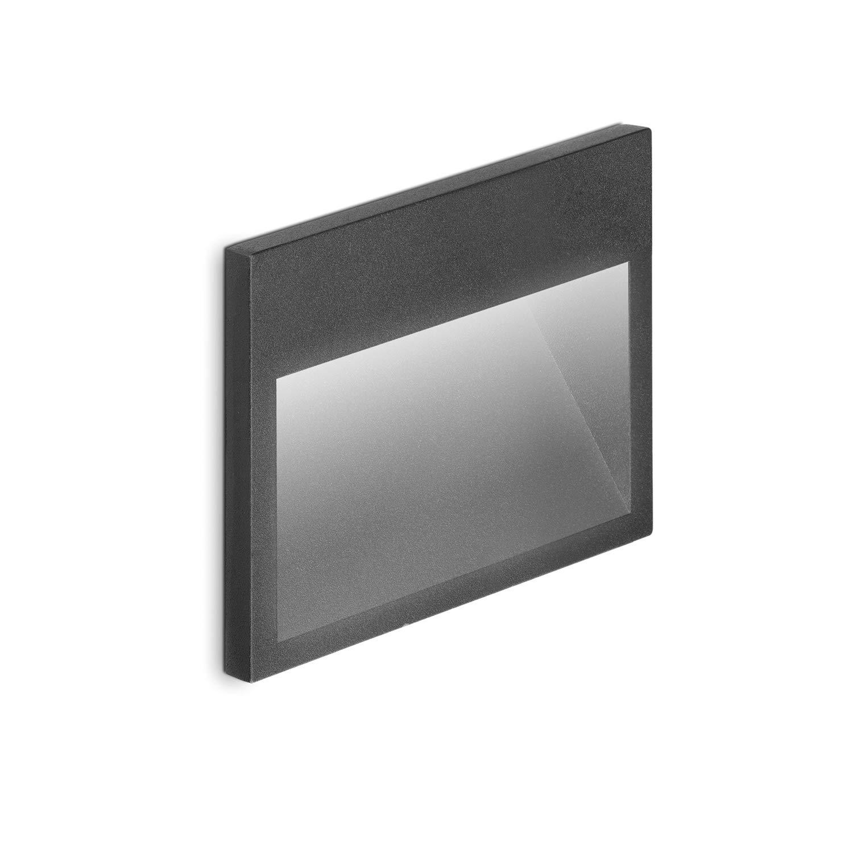 Aplique LED de Pared Interior//Exterior de empotrar IP65 Volton 3W 4000K Color Gris Antracita 180Lm