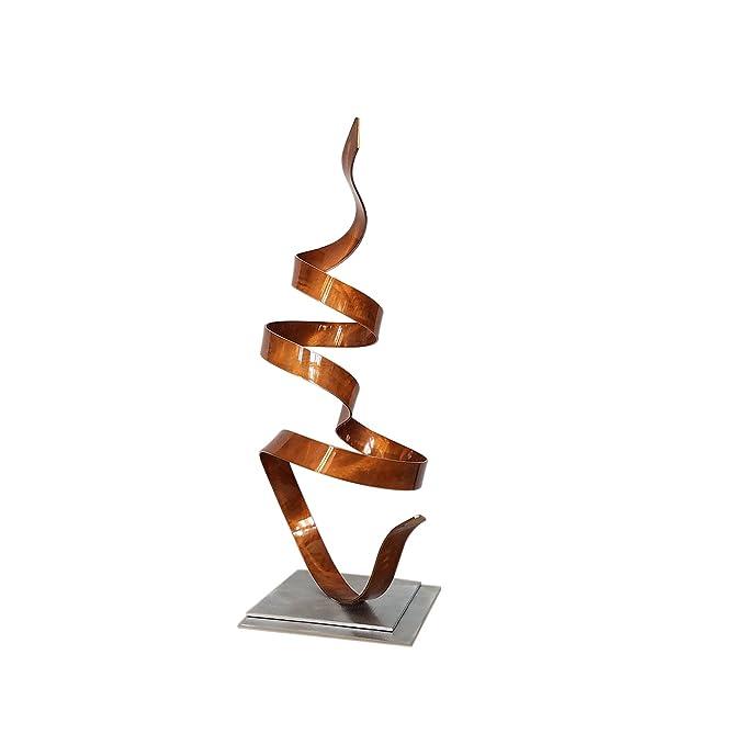 Cobre metal moderno Arte, contemporáneo mesa - Escultura Abstracta en una chimenea, escritorio, mesa o jardín - cobre Whisper Accent por Jon Allen - 18.5