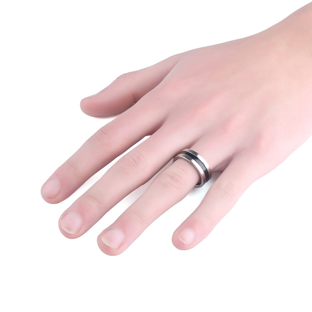 Amazon.com: Anddas Silver Magnetic Magic Ring & Black Coin Magician ...