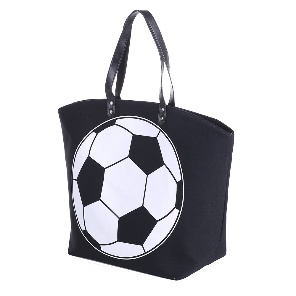 E-FirstFeeling Large Soccer Tote Bag Sports Prints Tote Soccer Mom Travel Bag (Soccer) by E-FirstFeeling (Image #1)