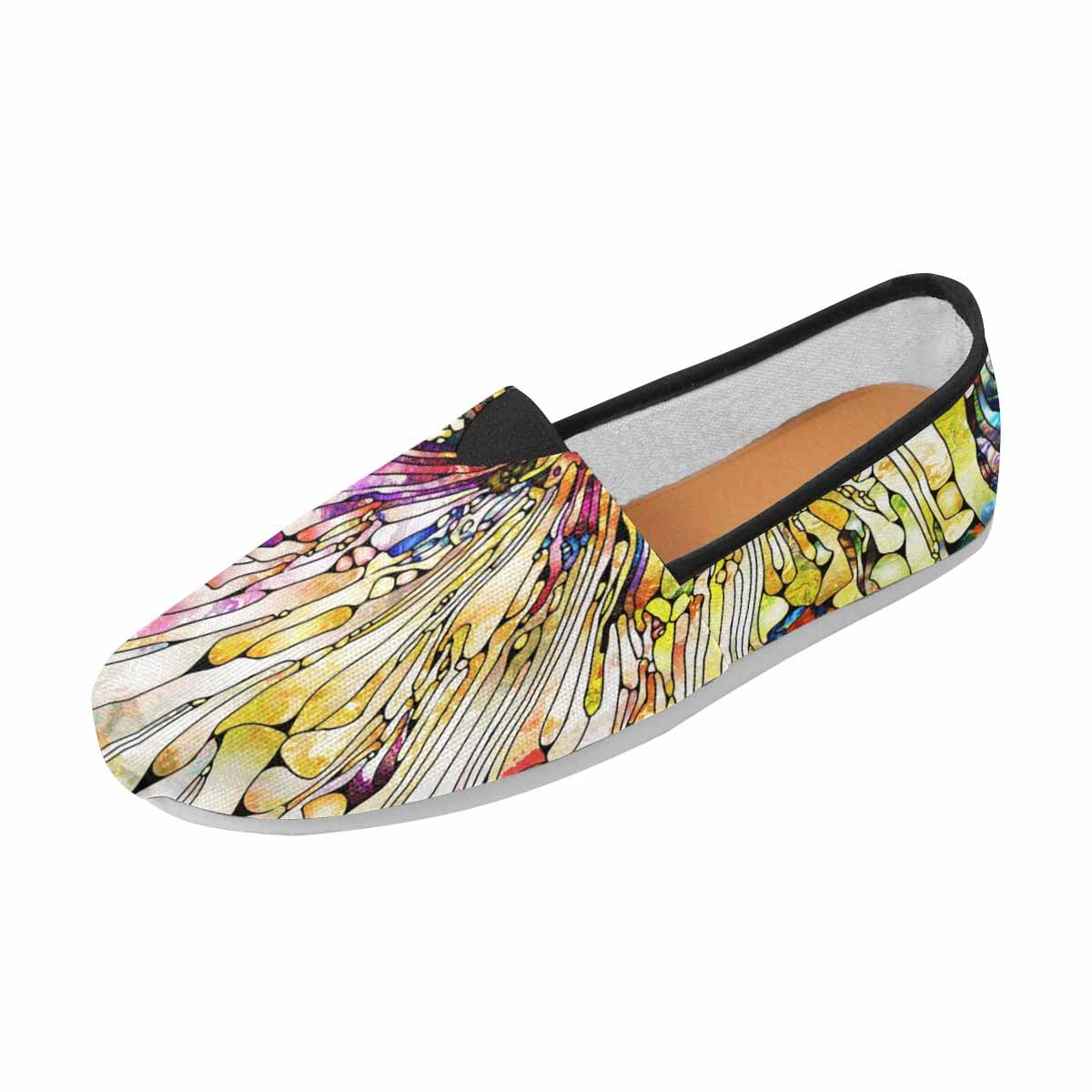 InterestPrint Women's Loafers Casual Slip On Flats 6 B(M) US Stained Glass Series