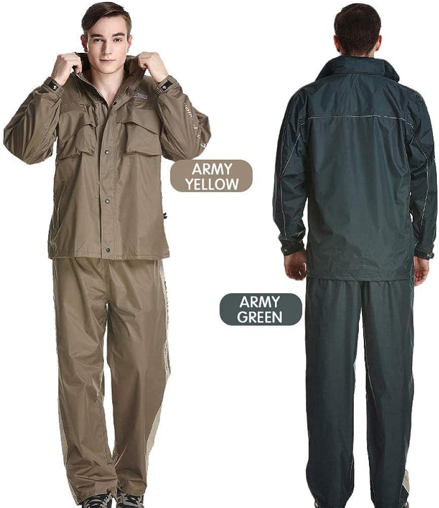 QPYJ Poncho Impermeabile Imperméable Imperméable Hommes Costume Manteau De Pluie Femmes Imperméable Rain Gear Poncho Green