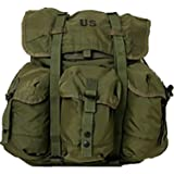 Military Outdoor Clothing Previously Issued U.S. G.I. Medium Olive Drab Military Surplus Alice Pack with Straps
