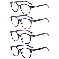 VEVESMUNDO Lesebrillen Damen Herren Arbeitsplatzbrille Gläser FedernScharnier Brillen Vollrandbrille Mode Große Lesehilfe Augenoptik Qualität 1.0 1.5 2.0 2.5 3.0 3.5 4.0
