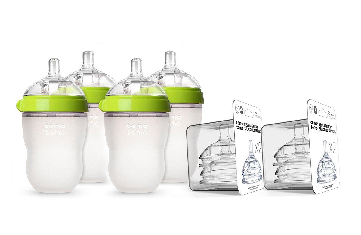 Comotomo Growing Baby Bottle Set Green