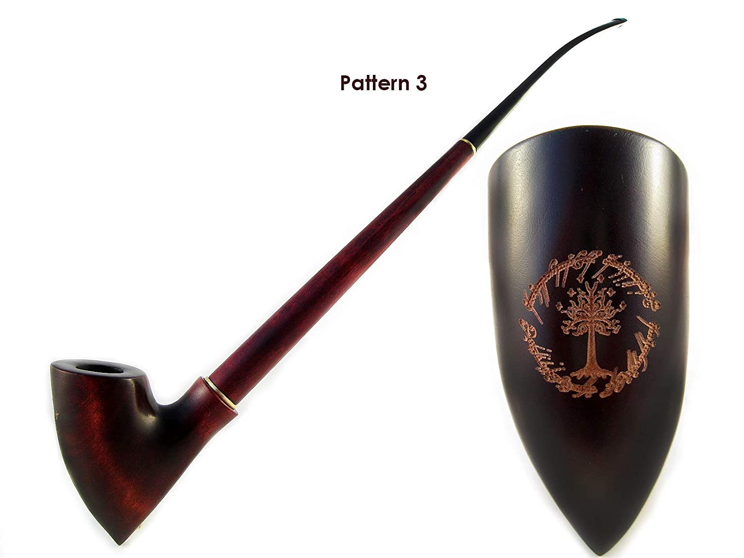 Fashion NEWTree of Gondor Lord of the Rings, Churchwarden Smoking Tobacco Pipe 13 inch/33 cm. Exclusive Designed for Pipe Smokers
