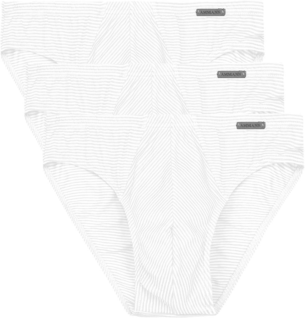 Cotton /& More Slip ohne Eingriff Schwarz Dunkel-Blau Wei/ß Ammann 3er Pack Herren Unterhose Gr/ö/ße 5 bis 14 Modal-Baumwoll-Elastan Mischung