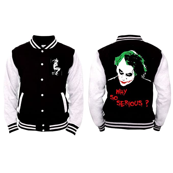 Batman - Joker Why So Serious? Hombres College Jacket ...