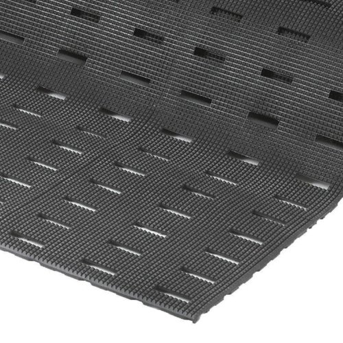 - NoTrax Vinyl 420 Cushion-Dek Anti-Fatigue Drainage Mat, for Wet Areas, 3' Width x 6' Length x 7/16