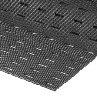 "NoTrax Vinyl 420 Cushion-Dek Anti-Fatigue Drainage Mat, for Wet Areas, 2' Width x 3' Length x 7/16"" Thickness, Black"