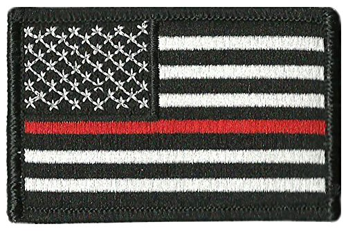 """Thin Red Line Flag Tactical Patch - 2""""x3"""""""