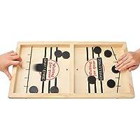 MOMSIV Fast Sling Puck spel, rolig trä paced sling puck vinnare brädspel förälder-barn interaktiv leksak festspel för…