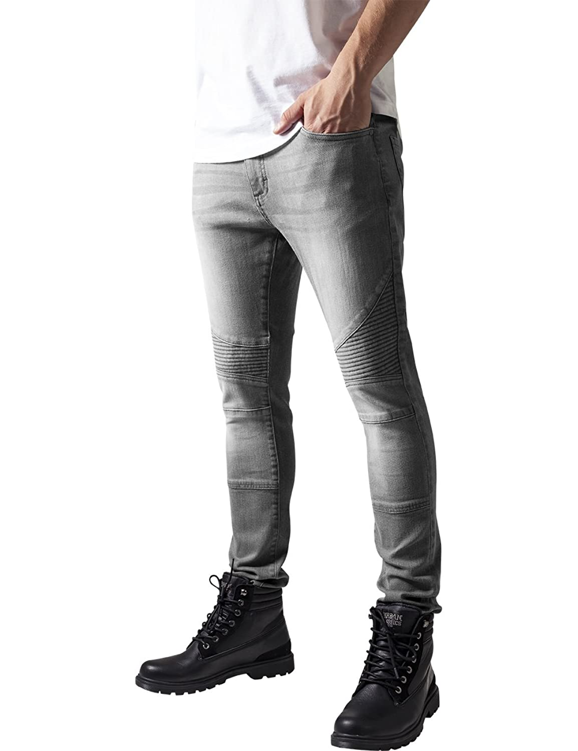 Slim Fit Biker Jeans grey 38