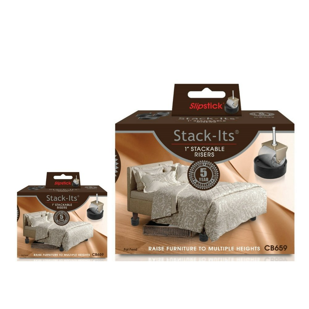 Slipstick CB659 Adjustable Bed Risers for Desks, Tables, and Heavy Furniture (2)