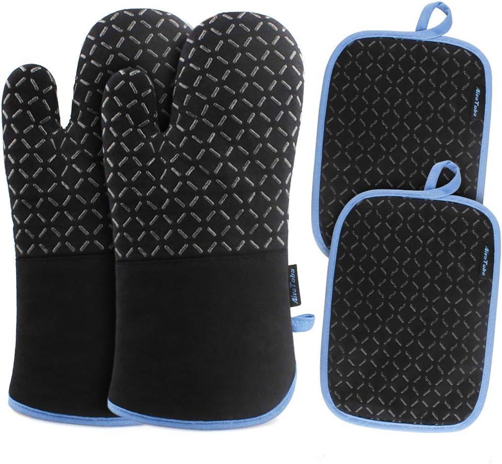 AivaToba Oven Gloves and Pot Holder Set