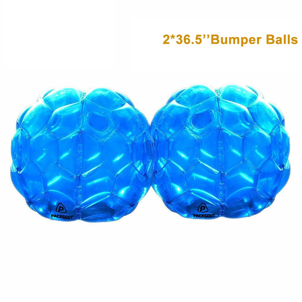 PACKGOUT Bumper Balls, Inflatable Body Bubble Ball Sumo Bumper Bopper Toys for Kids & Adults 36', 2 Balls Inflatable Body Bubble Ball Sumo Bumper Bopper Toys for Kids & Adults 36