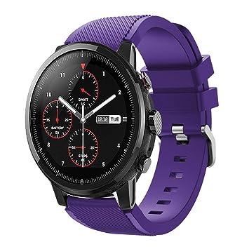 zolimx correas Xiaomi Huami Amazfit Stratos 2 Correas, Reloj Deportivo Suave de Repuesto para el Reloj Inteligente Huami Amazfit Stratos 2: Amazon.es: ...