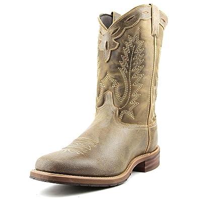 7d3b1aa22a6 Abilene Men's Distressed Brown Square Toe Roper Western Cowboy Boot