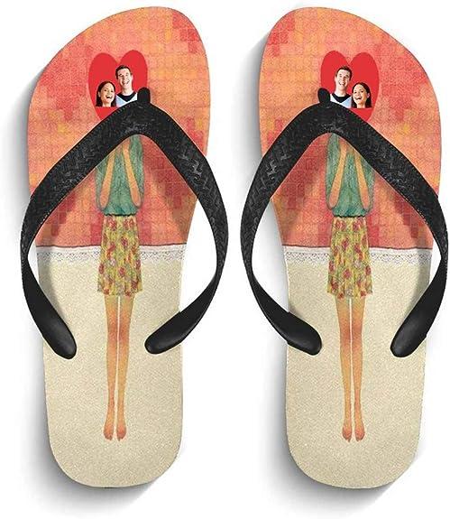 Bridal Party Flip Flops Custom Face Flip Flops Gift Custom Wedding Flip Flops Photo Flip-Flops Gift Gifts for Mom Face On Flip-Flops