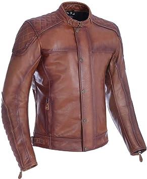 Oxford Hampton - Chaqueta de piel para motocicleta - Bourbon ...