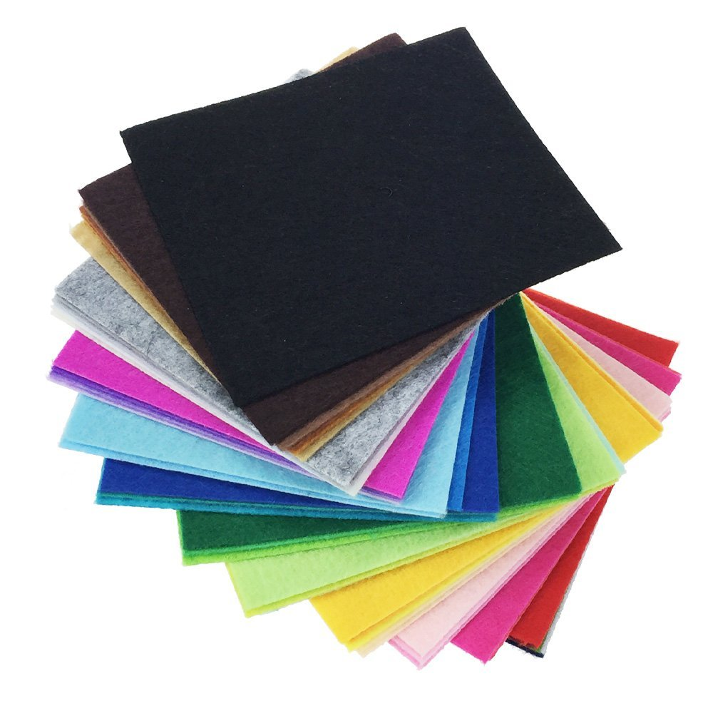 colored felt squares