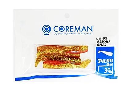 COREMAN(コアマン)ワームCA-02アルカリシャッド75mm3インチアカキン#057ルアーの画像