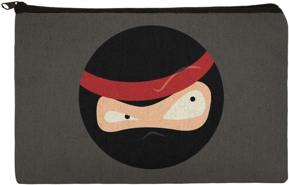 Ninja Face Head Funny Pencil Pen Organizer Zipper Pouch Case