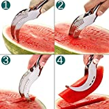 Stainless Steel Watermelon Slicer Cutter Knife Corer Fruit Vegetable Tools Kitchen Gadgets