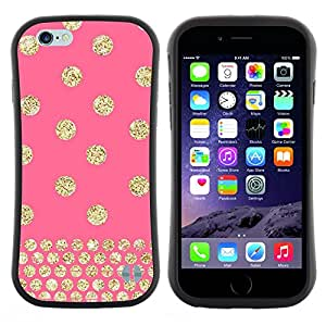Pulsar iFace Series Tpu silicona Carcasa Funda Case para Apple (4.7 inches!!!) iPhone 6 Plus / 6S Plus ( 5.5 ) , Lunares del rosa del modelo del oro del brillo""