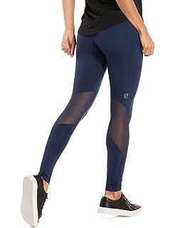 SYROKAN - Pantalones Deportivos Malla Fitness con Bolsillo Para Mujer