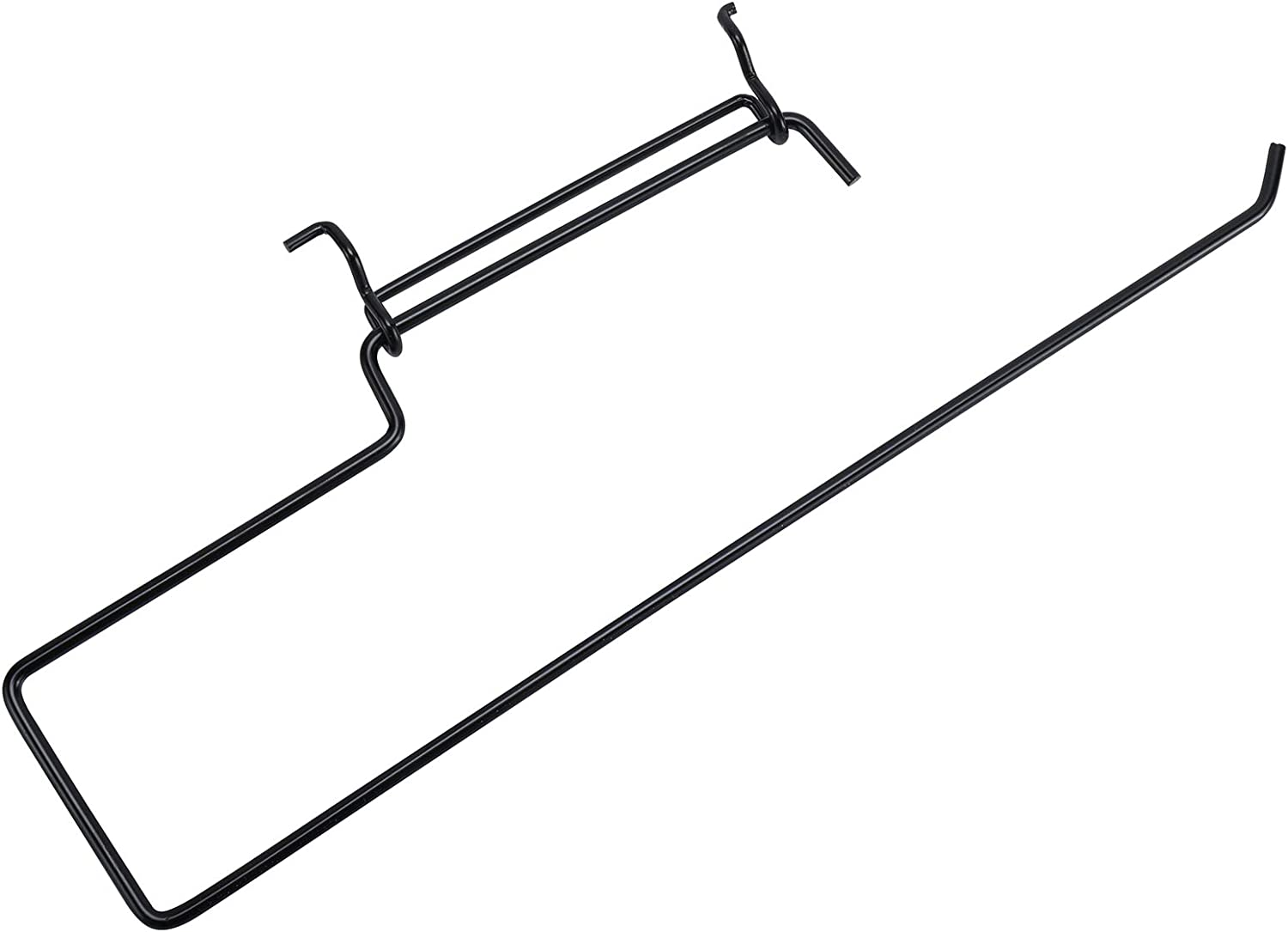 Kitchen Laundry Room Bathroom Stainless Steel Pegboard Hooks Garage Pegboard Organization Accessory Hook for Workshop Toolly 4 Pack Pegboard Paper Towel Holder