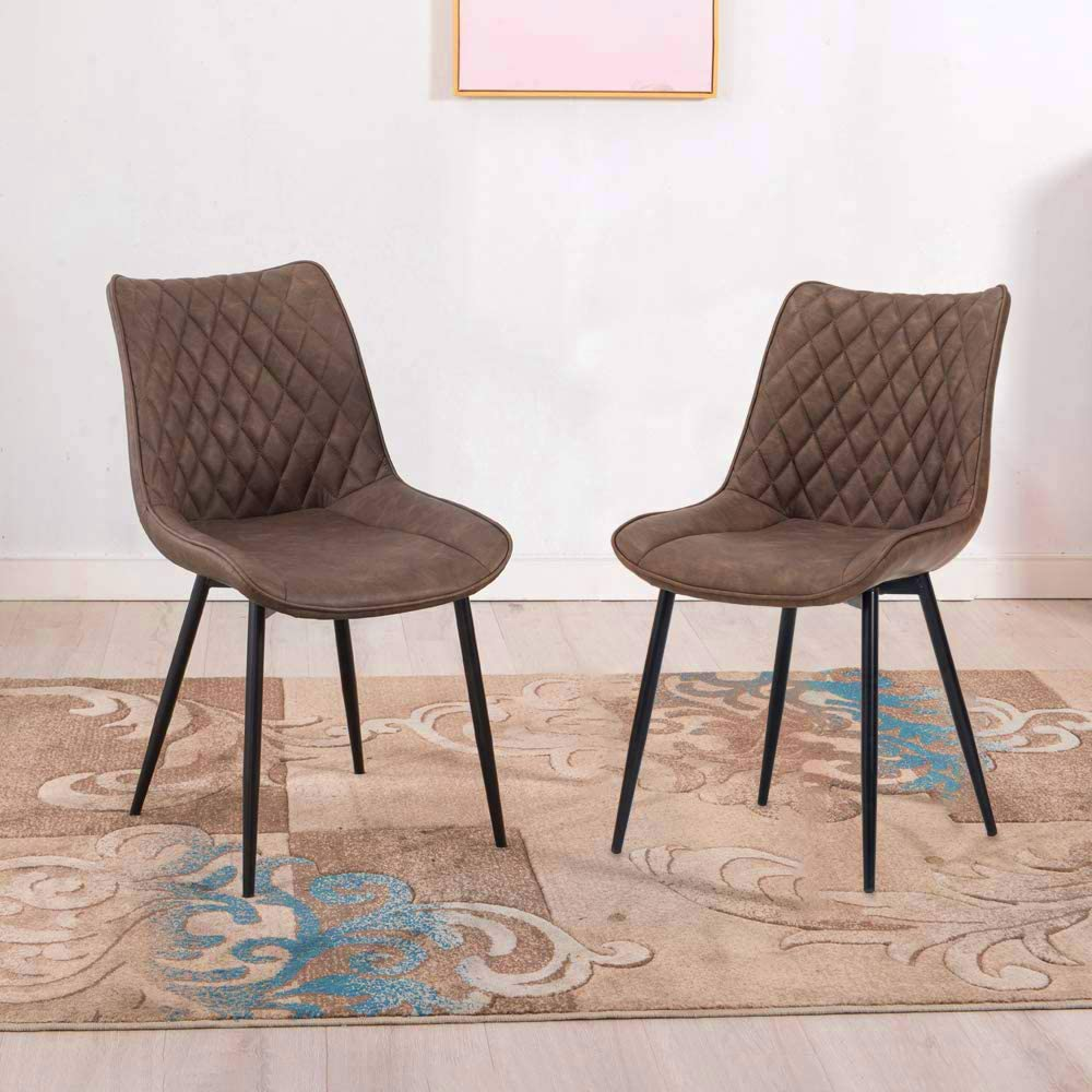 Mooseng Modern Set of 2 Dining Chairs Accent Chair