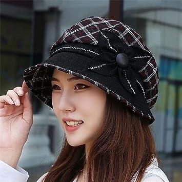 YXLMZ - Gorro de Invierno para Mujer, diseño de Yinglun, Negro ...