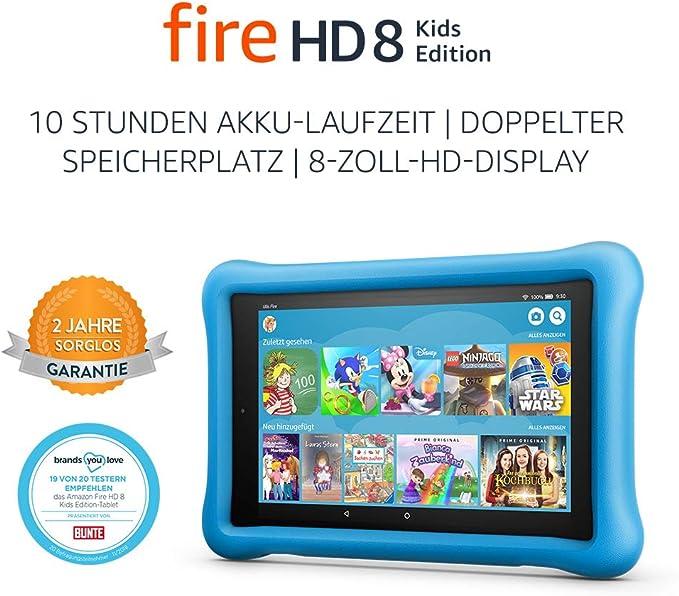 Fire Hd 8 Kids Edition Tablet 8 Zoll Hd Display 32 Gb Blaue Kindgerechte Hülle Vorherige Generation 8 Amazon Devices
