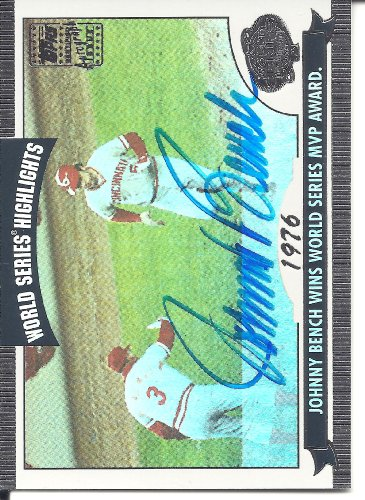 2004 Topps World Series Highlights (Johnny Bench 2004 Topps World Series Highlights Autograph Card #JB)
