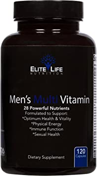 Best Multivitamin For Men >> Men S Multi Vitamin 28 Powerful Nutrients Vitamins And Minerals Best Multivitamin For Men Supports Optimum Health Physical Energy Immune