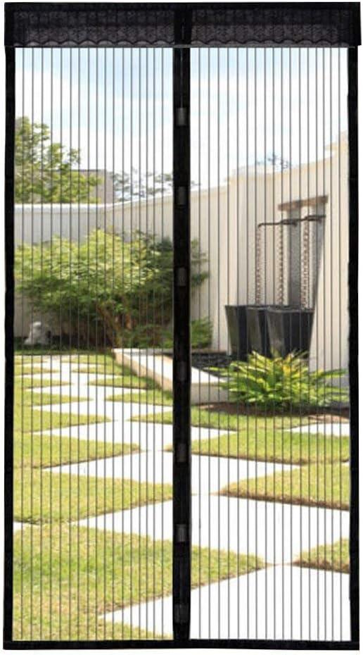 Extsud Mosquitera Magnética para Puertas 110 x 220cm Cortina Protección contra Insectos para Puerta de Balcón Sala de Estar Puerta de Patio Pegado sin Taladrar, Negro