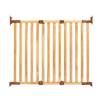 Kidco G2300 Angle Mounted Wood Safeway Baby Stairway Safety Gate Oak